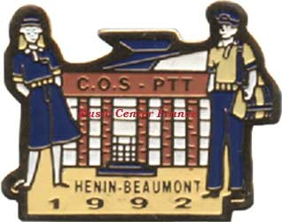 henin lietard beaumont pins pin cos ptt 1992