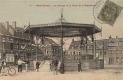 henin lietard beaumont place de la republique kiosque carte postale animee cp cpa