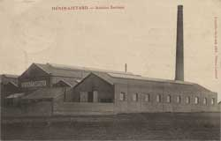 henin lietard usine atelier acierie sartiaux vue des batiments carte postale cp cpa