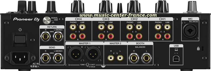 pioneer djm750k djm 750 mk2 noir black table de mixage mixer